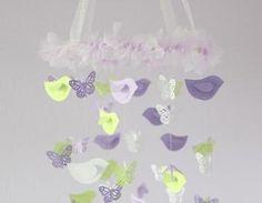 Lavender & Green Nursery Decor Mobi..