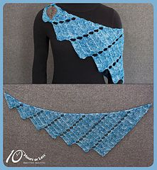 "Rippled Rainfall, a 10 Hours or Less knit design, in Ancient Arts Yarn Merino DK ""Forever in Blue Jeans"""