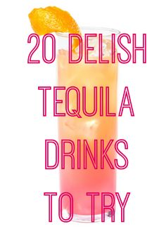 24 Fire Tequila Cocktails that Bring the Party Sure, traditional margaritas are yummy and all, but you can do much more with tequila. Party Drinks, Cocktail Drinks, Fun Drinks, Cocktail Recipes, Margarita Recipes, Fruity Drinks, Cocktail Ideas, Drink Recipes, Tequila Drinks