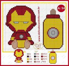 Iron Man Marvel baby chibi cross stitch patterns