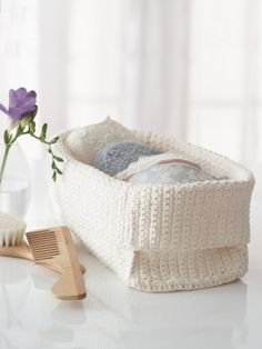 Spa Basket | Yarn | Knitting Patterns | Crochet Patterns | Yarnspirations