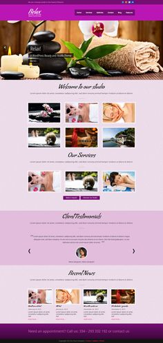 Relax - Beauty & Spa WordPress Theme by @Graphicsauthor