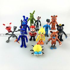 12Pcs/Set FNAF Bonnie Foxy Chica Freddy Fazbear PVC Action Figures Five Nights At Freddy's Toys Doll Brinqudoes Free shipping #>=#>=#>=#>=#> Click on the pin to check out discount price, color, size, shipping, etc. Save and like it!