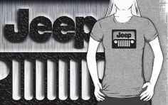 Classic retro silver Jeep wrangler logo Unisex Tee Tshirt