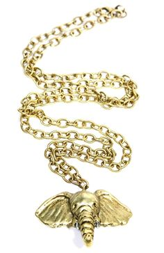 Love this elephant necklace! Talk about a statement piece!
