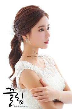 korea prewedding makeup and hair styling sample Korean Wedding Hair, Asian Bridal Hair, Asian Wedding Makeup, Hairdo Wedding, Bridal Makeup Looks, Natural Wedding Makeup, Bridal Hair And Makeup, Bride Makeup, Hair Makeup