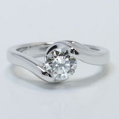 Custom Bypass Solitaire Ring