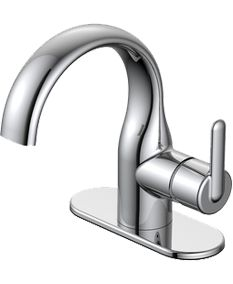 Aquasource Norcroft Polished Chrome 1 Handle Single Hole 4