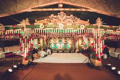 The décor for the wedding was kept extremely traditional despite the use of modern decoration concepts, the use of green and golden with peacock motifs really bought the stage to life. www.shopzters.com