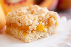Cooking Classy: Peach Crumb Bars