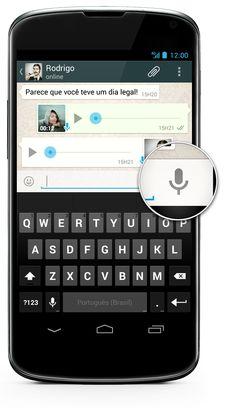 WhatsApp FAQ - Como eu uso a Mensagem de Voz?