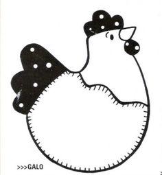 chicken quilt pattern - potholder?