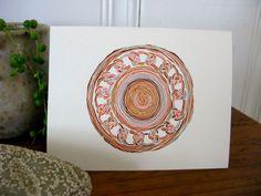 Woven Circle Notecard ::  by Shayna Roosevelt #myownwork