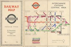 Transport for London Underground Interchange Sections Central Area 1936