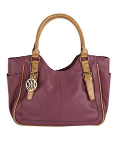 Raisin & Camel  Claire Vachetta Shoulder Bag by emilie m.