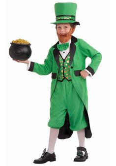 Child Leprechaun Costume- Inspiration for Luke's costume that I'll make.