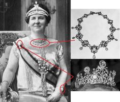 The Stuart diadem, belonging to the New Crown Parure of The Nederlands can be worn in three versions. In a smaller version. It is one of the most historic jewels present in royal families.