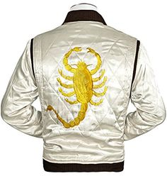 TAF Men's Drive Jacket with Golden Scorpion - Ryan Gosling Famous Scorpion Jacket (XX-Small) The American Fashion http://www.amazon.com/dp/B00MHUF902/ref=cm_sw_r_pi_dp_W7ZMvb1JN6ZBA