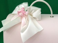 Christening Bag With Horse Decoration - Treasured Favours