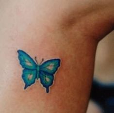 Little Blue Butterfly Tattoo : Butterfly Tattoos Butterfly Tattoo Cover Up, Butterfly Tattoo Meaning, Butterfly Tattoo On Shoulder, Butterfly Tattoos For Women, Butterfly Tattoo Designs, Tattoos For Women Small, Small Tattoos, Cover Up Tattoos, Foot Tattoos