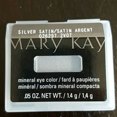 Mary Kay eye color Mary Kay mineral eye color in silver satin Makeup Eyeshadow