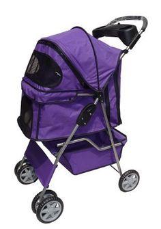 Purple 4 Wheels Pet Dog Cat Stroller w/RainCover by BestP... https://www.amazon.co.uk/dp/B018OEPP1M/ref=cm_sw_r_pi_dp_pleHxb19V930Z