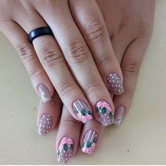 3d Nails, Nail Manicure, Cute Nails, Pretty Nails, The Art Of Nails, Nails For Kids, Flower Nails, Gorgeous Nails, Nail Tech