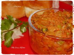 My Easy Kitchen: Pav bhaji - How to make pav bhaji / Pav bhaji reci...