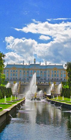 View of The Peterhof Palace with the Grand Cascade,Samson Fountain and Sea Channel,St.Petersburg,Russia