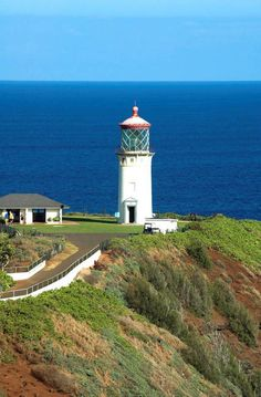 Kilauea lighthouse in Kauai, Hawaii.