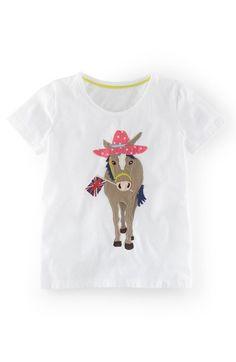 Mini Boden Appliqué Tee (Toddler Girls, Little Girls & Big Girls) available at #Nordstrom