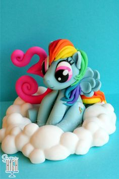 Sugar High, Inc.Here is a cake topper that will be shipping off to attend a Rainbow Party!!!!