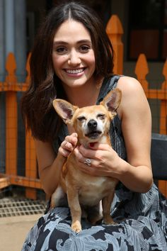 Emmy Rossum partners with Windows 10 and Best Friends Animal Society as part of Upgrade Your World on August 21, 2015 in Los Angeles, California.