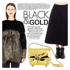 """Black&gold!"" by thequeenstore ❤ liked on Polyvore featuring Giuseppe Zanotti"