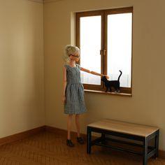 MINIMAGINE * furniture for dolls: cat  #mydolls #momokodoll #momoko #fashiondolls #playscale #playscaledoll #sixthscale