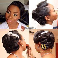 Nigerian wedding black bridal hair ideas and inspiration 4