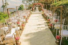 For Cashmere & Daniel's garden ceremony, an elegant aisle was set up for the entourage. Wedding Gallery, Wedding Photos, Wedding Ideas, Tagaytay, Wedding Decorations, Table Decorations, Big Day, Wedding Planner, Wedding Venues