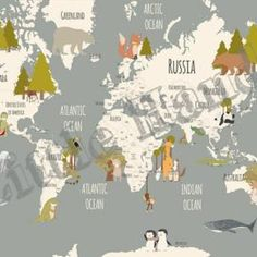 Animals World Map III