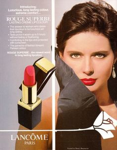 Red lipstick ads through the years