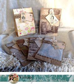 Bolsas para dulces con papel decorado y etiqueta colgante