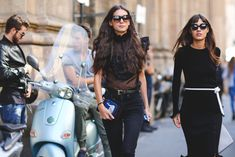 60 Head-To-Toe-Amazing Street Style Snaps From Milan Fashion Week #refinery29  http://www.refinery29.com/2015/09/94857/milan-fashion-week-spring-2016-street-style-pictures#slide-15  These ladies got the all-black-everything memo....