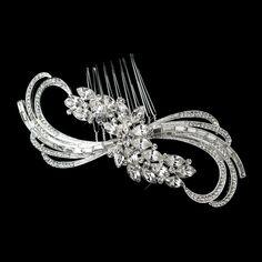 Stunning! Baguette Rhinestone Wedding Hair Comb