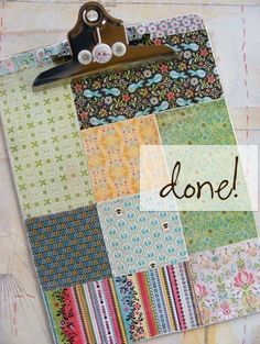 patchwork clipboard - a tutorial...I LOVE this!!! ? & OOAK altered decorated clipboard by kuteklipboardsbyamy on Etsy ...