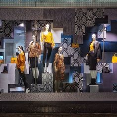 "This fall/autumn"", photo by visual and creative, pinned by ton van der Visual Display, Display Design, Store Design, Clothing Store Interior, Women's Clothing, Mannequin Display, Debenhams, Clothing Displays, Oxford Street"