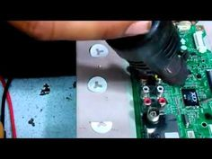 LG LCD LED Tv main board removing smd chip
