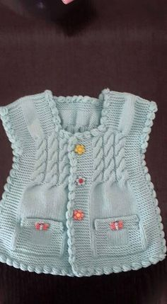 knitting instructions yarn over needle – Stricken sie Baby Kleidung Arm Knitting, Knitting For Kids, Baby Knitting Patterns, Crochet For Kids, Knitting Designs, Baby Patterns, Knit Crochet, Baby Boy Vest, Toddler Vest