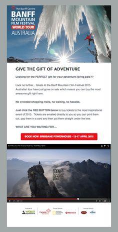 Banff Mountain Film Festival, by Adventure Reels (http://banffaustralia.com.au)