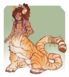[P] Tiger Prince by BlitzBunny on DeviantArt Fantasy Character Design, Character Design Inspiration, Character Art, Mythical Creatures Art, Mythological Creatures, Creature Concept Art, Creature Design, Dnd Characters, Fantasy Characters