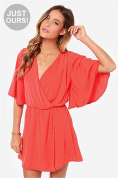 84b8ff9108f LULUS Exclusive The Way You Move Coral Red Dress at Lulus.com! Skirt Fashion