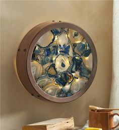 Our exclusive Agate Lighted Wall Art utilizes materials from the Earth's core to create a … Diy Resin Art, Diy Resin Crafts, Agate Decor, Main Image, Crystals In The Home, Diy Chandelier, Crystal Decor, Home And Deco, Framed Wall Art
